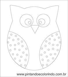 Resultado de imagem para desenho de coruja para patch aplique