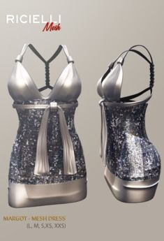 Second Life Marketplace - R.icielli - MARGOT Mesh Dress   Grey Mesh Dress a82efc78b