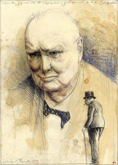 Winston Churchill clown