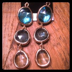 Great Round Blue Drop Earrings Great Round Blue Drop Earrings Jewelry Earrings