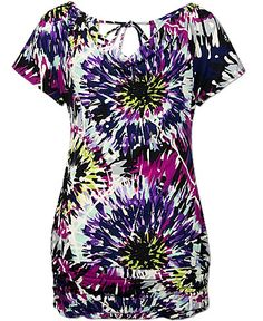 Daytrip Burst Top in Purple Navy Multi. $12.60 Buckle.com