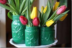 St. Patrick's Mason Jars | Mason Jar Crafts Love