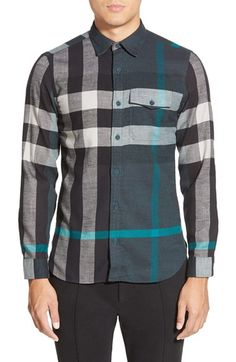 Burberry the Britain 'Jamie' Trim Fit Flannel Sport Shirt