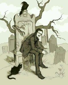 Edgar Allan Poe by artist Abigail Larson