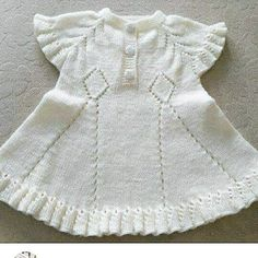 # Quote # weave ideas # needle – Necla Sener – Join the world of pin Baby Cardigan, Baby Vest, Baby Baby, Crochet Baby Dress Pattern, Knit Baby Dress, Baby Girl Patterns, Baby Knitting Patterns, How To Purl Knit, Toddler Dress