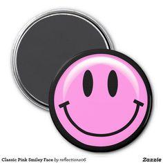 Klassischer rosa Smiley