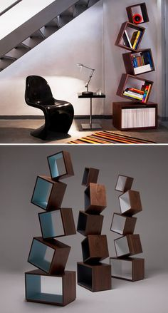 Equilibrium Bookcase - molded polyethelene can hold up to 120 pounds