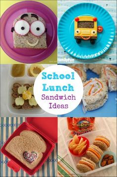These School Lunch Sandwich Ideas have helped me add some variety to my kid's lunch each day. LoveableLunch AD