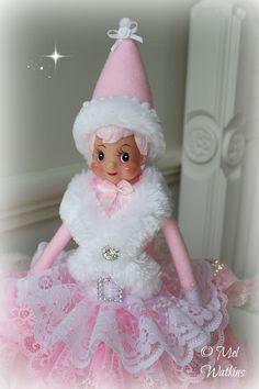 FOR SALE: Pink elf vintage pink elves pink knee hugger www.mylittlepinkshop.etsy.com