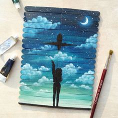 """2,640 Likes, 28 Comments - Sapphire (@creativity_to_inspire) on Instagram: """"Let's fly away 😁 @zeinabsultan_ @_nimraah_ . . . . . . . . . #painting #art #artist #oilpaint…"""""""
