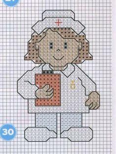 enfermeras en punto de cruz - Buscar con Google