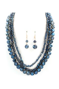 Crystal Anna Necklace in Sapphire Vitrail