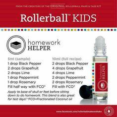 Homework Helper Rollerball recipe