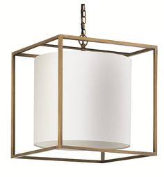 Derwent Cube Large Ceiling Pendant Lamp by Heathfield in Suspended & Pendant Lights Large Pendant Lighting, Ceiling Pendant, Pendant Lamp, Ceiling Lights, Pendant Lights, Lampshades, Lighting Design, Antique Brass, Cube