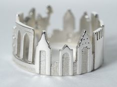 New York Cityscape - Skyline Statement Ring by shekhtwoman