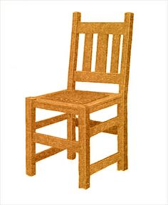 Build A Mission Dining Chair With Free Plans Featuring Vertical Back Slats  And A Traditional Mission Style.
