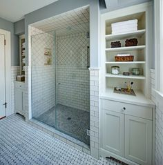 Subway, basket weave, classic bathroom tiles