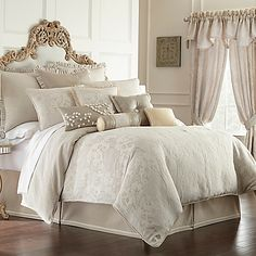 Waterford® Linens Genevieve Reversible Comforter Set in Ivory