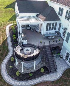 Beautiful ▫️Deck Design ▫️Outdoor Living Space Inspiration ✨ By [ ] Modern Home Design, Dream Home Design, Minimalist House Design, Minimalist Style, Dream House Exterior, Dream House Plans, Family House Plans, Patio Deck Designs, Casas The Sims 4