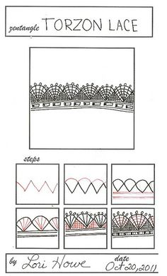 Torzon Lace | Flickr - Photo Sharing! By Lori Howe #zentangle
