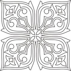 Awesome Most Popular Embroidery Patterns Ideas. Most Popular Embroidery Patterns Ideas. Stained Glass Patterns, Tile Patterns, Pattern Art, Embroidery Patterns, Mandala Painting, Dot Painting, Colouring Pages, Coloring Books, Deco Cuir