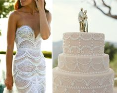 Love the cake. Seems like it would be so easy to make! I'm gonna try! Cakes Inspired by Wedding Dresses