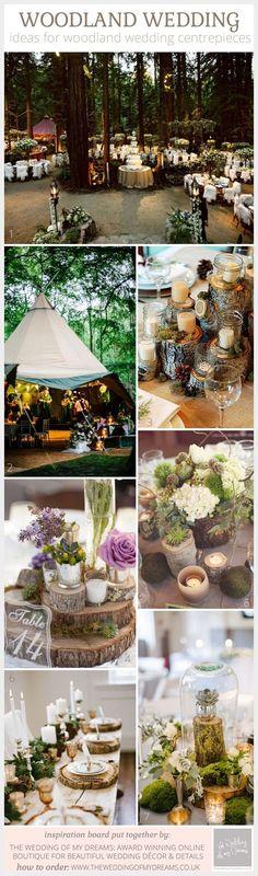 Discover These Amazing Woodland Wedding Centrepiece Ideas: Ideas for woodland wedding centrepieces