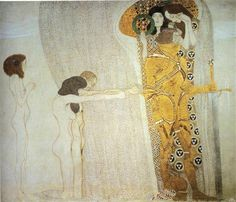 The Beethoven Frieze: The Longing for Happiness. Left wall - Gustav Klimt
