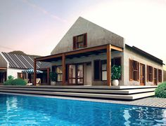 Modern Vernacular Cape Dutch designed house in South Africa
