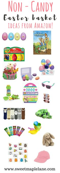 Great non candy Easter basket ideas!