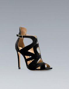 ZARA - Strappy High-Heel Sandal...they make me feel kinda zexxy
