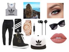"""""""Running errands"""" by lovinglife56 on Polyvore featuring adidas Originals, Michael Kors, adidas, Sony and Lime Crime"""
