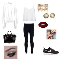 """Sans titre #162"" by melissandre-2000 on Polyvore featuring mode, NIKE, Alice + Olivia, Vince, Givenchy, River Island, Kendra Scott et Lime Crime"