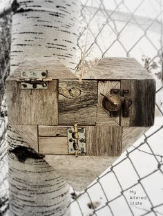 industrial scrap wood heart