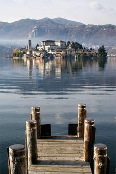 San Giulio Island (Novara), Lake Orta, Piemonte, Italy More