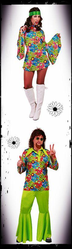 $35.90 Disfraces de Hippies (Precio en € por la pareja - disponibles por separado)
