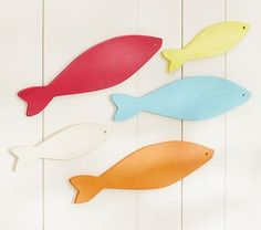 Wooden Fish Hanging Decor - potterybarnkids.com