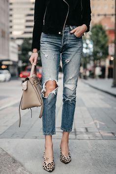 Denim Ripped Jeans Celine Mini Belt Bag Leopard Heels Fall-Fashion Must  Haves Fashion Jackson b45203dcbb00