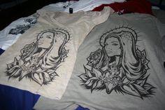 virgin mary tattoo shirt