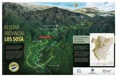 Áreas Naturales Protegidas de Tucumán. Diseño: Cecilia Estrella.  Sign - Park - Infographic - Mountain - Map