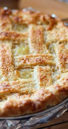 Move over, traditional apple pie. This zesty pineapple pie is a refreshing taste of the Islands that's apple-pie easy. #pierecipe #desserts #pineapplerecipe