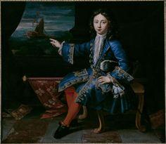 C'est en 1690 que le peintre Hyacinthe Rigaud réalise un portrait de Louis-Alexandre de Bourbon, comte de Toulouse. L'enfant a alors 11 ou 12 ans. Il est le fils légitimé de Louis XIV et de Madame de Montespan.  Le comte de Toulouse est ici représenté dans sa tenue de Grand Amiral de France, charge qu'il a reçu à l'âge de 5 ans, en 1683, après le décès de son demi-frère, le comte de Vermandois, le fils du Roi et de Louise de La Vallière.