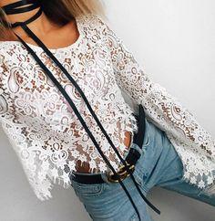bolos + lace + denim