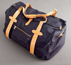 BAG: Made of selvage denim and natural-colored leather by Filson (Photo by Raymond Horn)