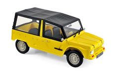 Citroën Méhari 1983 - Atacama Yellow - Street cars - Car models - Die-cast | Hobbyland Scale model car made of metal /Die-cast/ in 1:18 scale manufactured by Norev.  It is just a small version of a real car suitable for collectors.  Handmade.  Composition: metal and plastic