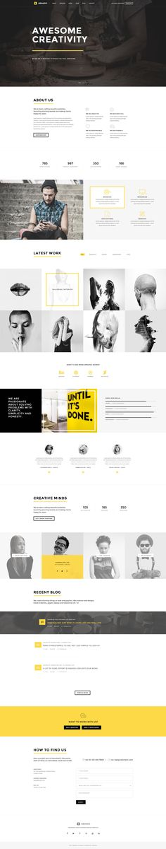Brando #Responsive & #Multipurpose #OnePage #Template For #Agency by #ThemeZaa http://goo.gl/VGP5GC