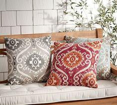 Sunbrella® Jaden Indoor/Outdoor Pillow #potterybarn
