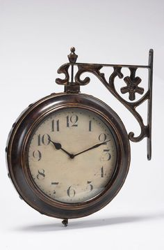 Adeco Wrought Iron AntiqueLook Brown Round Wall Hanging Double
