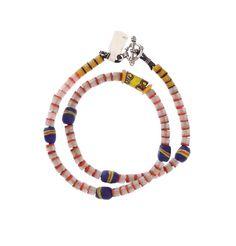 Venetian Millefiori, Krobo Beads, Flat Ended #1345 | Necklaces | Jewelry — Deco Art Africa - Decorative African Art - Ethnic Tribal Art - Ar...