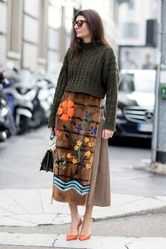 Mixed Textures - The Street Style at Milan Fashion Week Was Seriously Chic - Photos